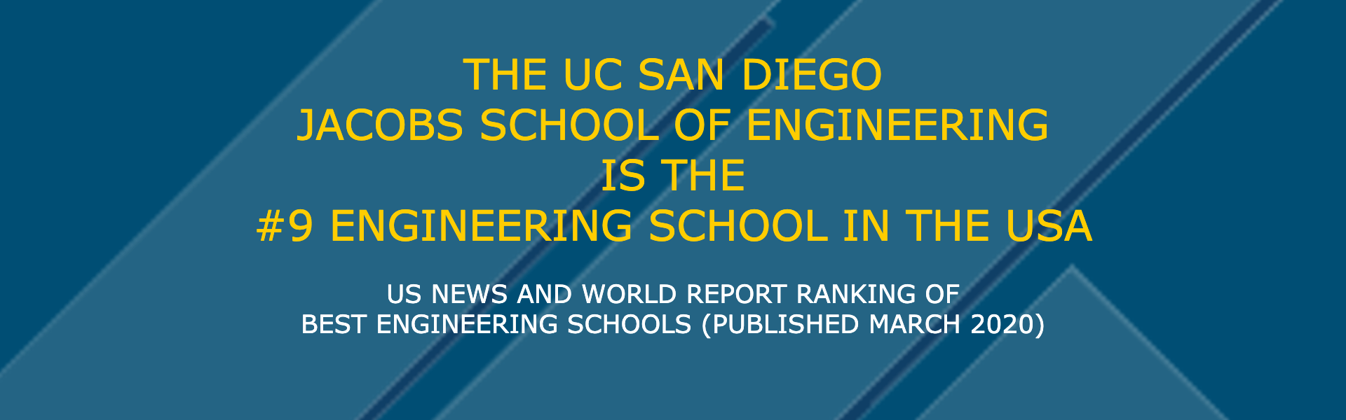 JSOE ranked #9th best Engineering School in the USA